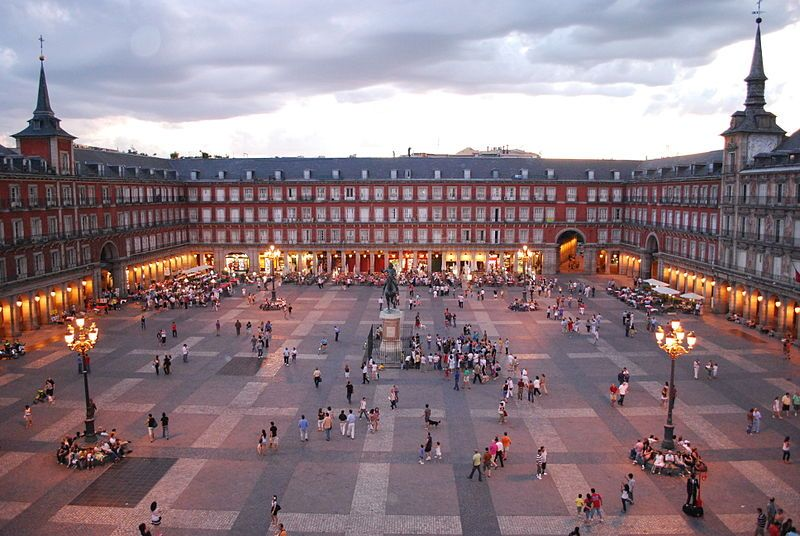 Vistas de la Plaza Mayor de Madrid