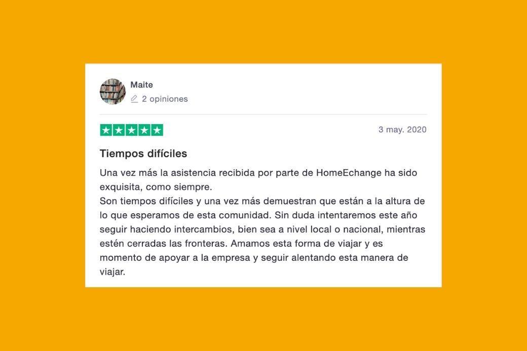 Alt Opinion_asistencia_HomeExchange, title Opinion_asistencia_HomeExchange